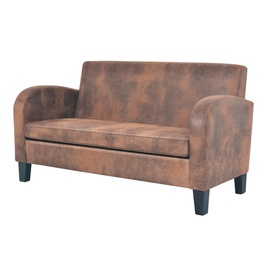 Dīvāns VLX 2-Seated 245585, brūna, 70 x 139 x 76 cm