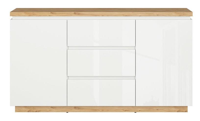 Комод Black Red White Erla KOM2D2S White/Oak, 158x41x88.5 см