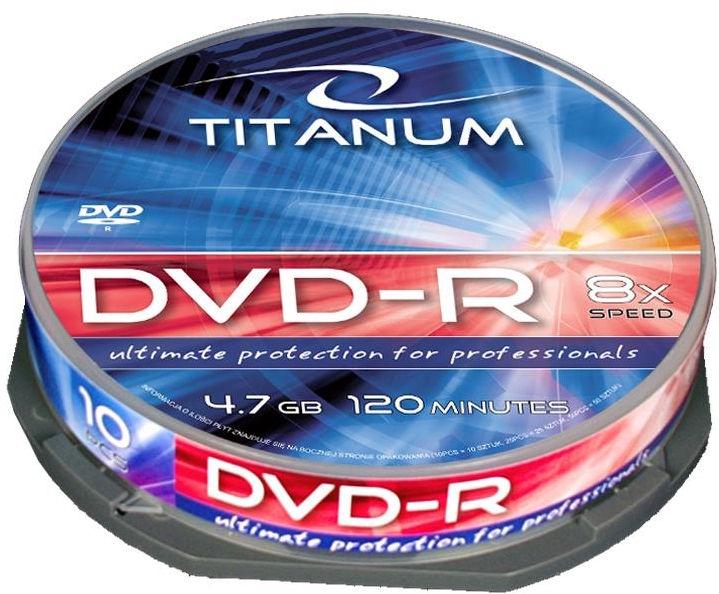 Esperanza 1071 Titanum 8x 4.7GB Cake Box 10 DVD's