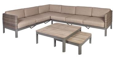 Комплект уличной мебели Home4you Admiral 40043, коричневый, 6 места