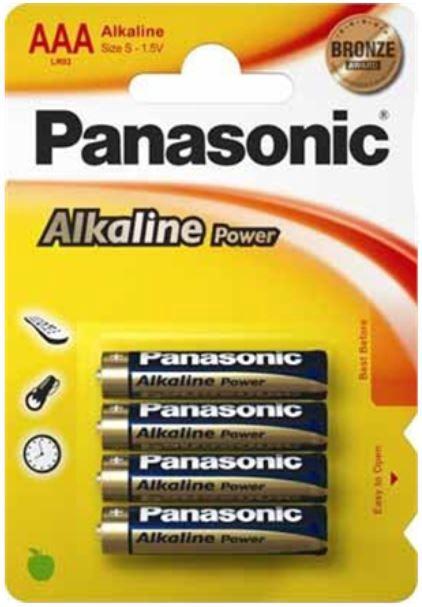 Panasonic LR03 Alkaline Battery AAA-S x 4