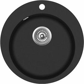 Aquasanita SR100-601W Kitchen Sink Black 505mm