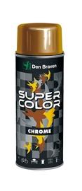 Aerosola krāsa Den Braven Super Color Chrome, 400ml, zelta