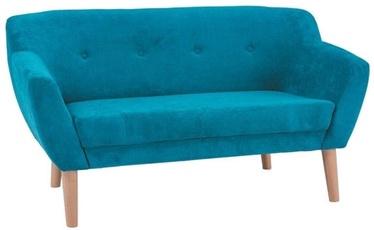 Dīvāns Signal Meble Bergen 2 Velvet Turquoise, 139 x 54 x 76 cm