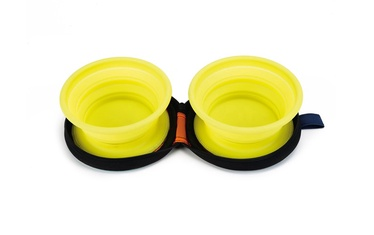 Beeztees Travel Silicone Bowl Set Eesy Yellow 2x450ml