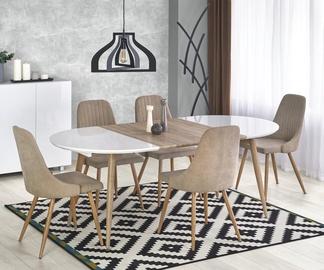 Pusdienu galds Halmar Edward, balta/ozola, 1200 - 2000x1000x750mm