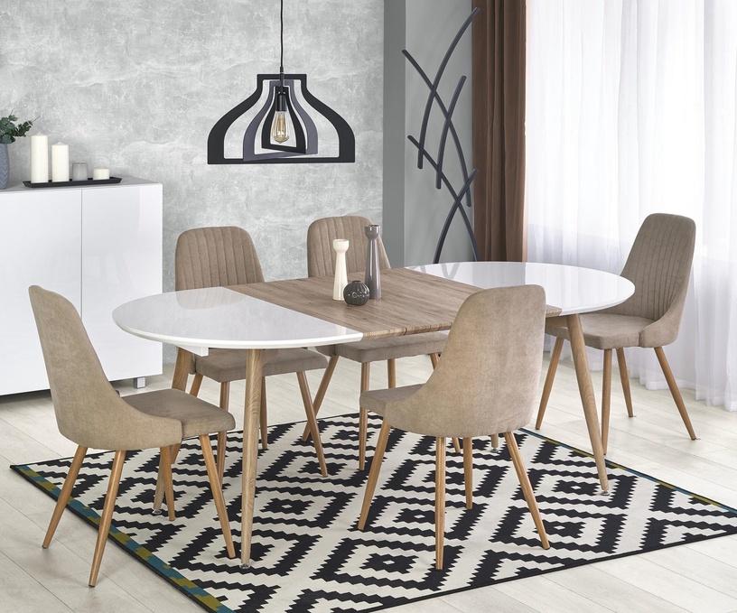 Pusdienu galds Halmar Edward White/Oak, 1200 - 2000x1000x750 mm
