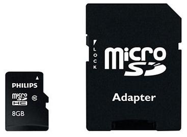 Philips Micro SD Card 8GB + Adapter FM08MP45B