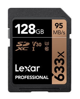 Lexar 128GB Professional SDXC Card 633x U3 V30