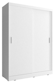 Skapis Piaski Wiki 130 White, 130x62x200 cm