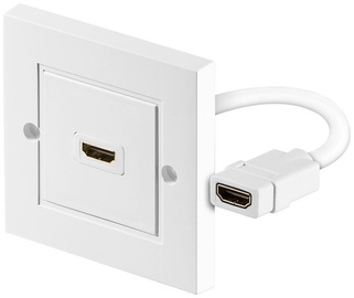 Goobay Wall Socket HDMI To HDMI White