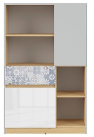 Black Red White Nandu Shelf 79.5x126x39cm Gray/Oak/White/Arabesque