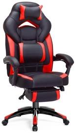 Spēļu krēsls Songmics, melna/sarkana