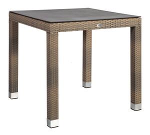 Dārza galds Home4you Larache 21208, melna/pelēka, 80 x 80 x 75 cm