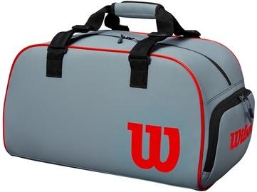 Спортивная сумка Wilson Clash Duffle Small, красный/серый