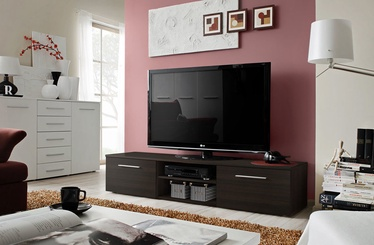 TV galds ASM Bono II Wenge, 1800x450x350 mm