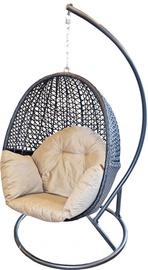 Садовое кресло напольный Diana Rattan, коричневый/песочный