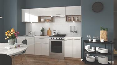 Кухонный гарнитур Halmar Viola White/Sonoma Oak, 2.6 м