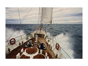 Fotoattēls Signal Meble Yacht Glass Painting 120x80cm