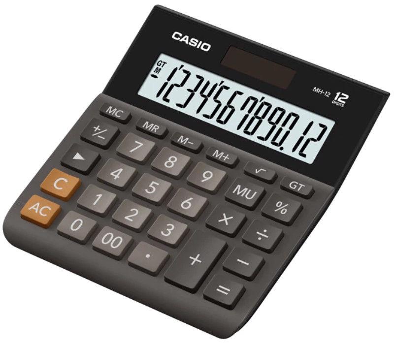 Casio Calculator MH-12 Black