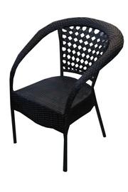 BESK Garden Chair 51x53x75cm Black