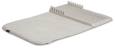 Umbra Udry Mini Drying Mat + Mini Rack Light Grey