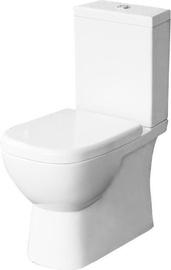 Tualete Sanita Luxe Quadro 2 SL DM, ar vāku, 350x625 mm
