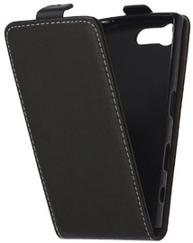 Mocco Kabura Rubber Vertical Opens Case For Samsung Galaxy S6 Edge Plus Black