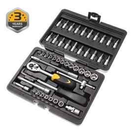 "Набор торцевых головок Forte tools 216006/8303, 4-14 mm, 1/4 "", 51 pcs."
