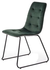 Ēdamistabas krēsls Halmar K321 Green/Grey, 1 gab.