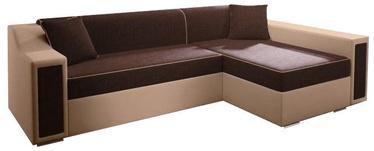 Stūra dīvāns Idzczak Meble Milton Mini Bahama 8/Soft 1 Brown, 282 x 160 x 77 cm