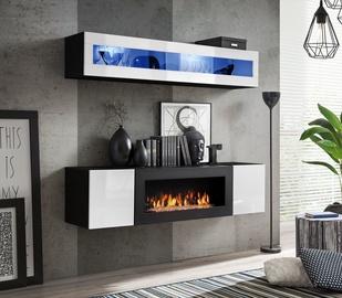 Dzīvojamās istabas mēbeļu komplekts ASM Fly N2 White/Black