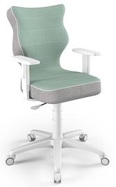 Bērnu krēsls Entelo Duo CR05, balta/zaļa, 400 mm x 1000 mm