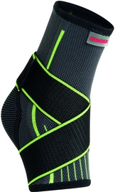 Mad Max 3D Compressive Ankle Support With Strap Dark Grey/Neon Green L