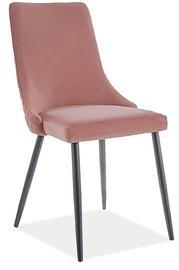 Ēdamistabas krēsls Signal Meble Piano B Velvet 63, rozā