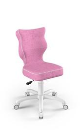 Bērnu krēsls Entelo Petit VS08, balta/rozā, 350 mm x 830 mm