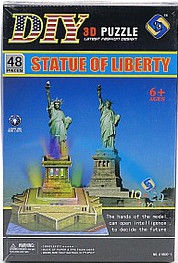 Tommy Toys DIY 3D Puzzle Statue Of Liberty 48pcs 414426