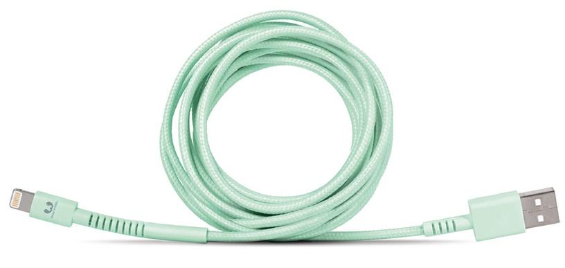 Fresh 'n Rebel Fabriq USB To Apple Lightning Cable 3m Green