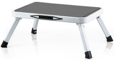 Tatkraft Stand Foldable Steel Single Step Stool White/Black
