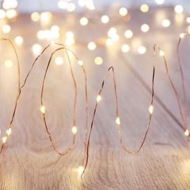 Электрическая гирлянда DecoKing LED Micro Fairy, теплый белый, 1.3 м