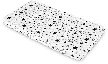 Palags Sensillo Printed Sheet Stars, melna