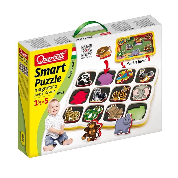 Quercetti Smart Puzzle Magnetico Jungle 0232