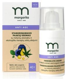 MARGARITA ANTI AGE Укрепляющий крем для глаз с экстрактом черники и маслом семян конопли 15 ml