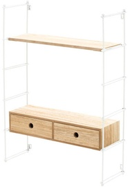 Verners 4Living Wall Shelf 555x755x180mm White/Wood