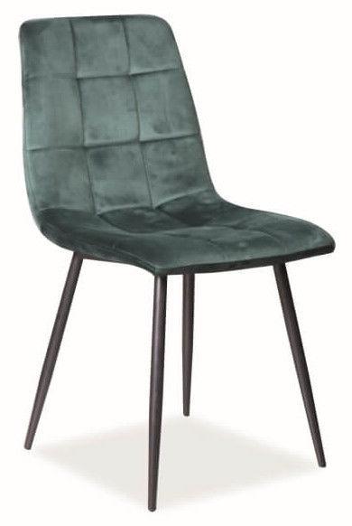 Ēdamistabas krēsls Signal Meble Mila Velvet Green, 1 gab.