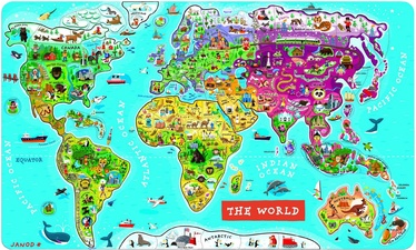 Koka puzle Janod World J05504, 92 gab.