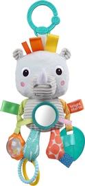 Ratiņu rotaļlieta Bright Starts layful Pals Rhino, daudzkrāsains