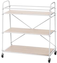 Verners 4Living Shelf on Wheels 640x660x300mm Wood