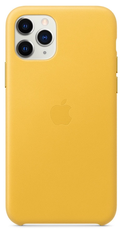 Apple Leather Back Case For Apple iPhone 11 Pro Meyer Lemon