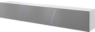 ТВ стол Vivaldi Meble Slant 240, белый/серый, 2400x400x350 мм